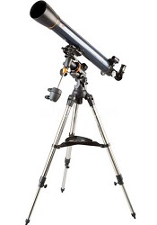 21064 AstroMaster 90 EQ Refractor Telescope - OPEN BOX