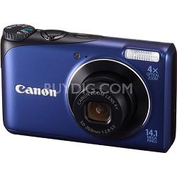 PowerShot A2200 14MP Blue Digital Camera w/ 4x Zoom & 720p HD Video
