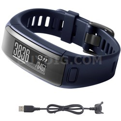 vivosmart HR Activity Tracker Regular Fit Midnight Blue Charging Cable Bundle