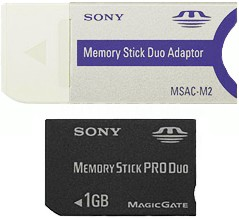 MSX-M1GST - 1GB Memory Stick PRO Duo Media w/ MS Duo adapter