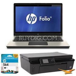"Folio 13.3"" 13-1020US Notebook and Printer Bundle"