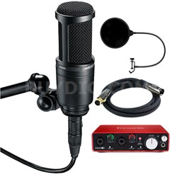 Side Address Cardioid Condenser Studio Microphone w/ Interface Bundle