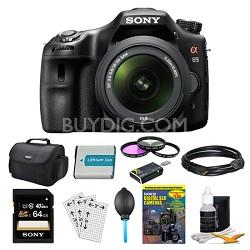 SLTA65VL DSLR 24.3MP 18-55mm Zoom SLR Black Camera 64GB Bundle