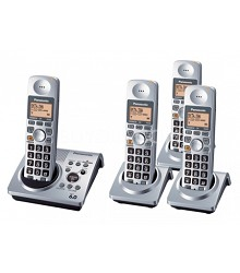KX-TG1034S DECT 6.0, Wireless Network Friendly 4 Handset Cordless Phone System