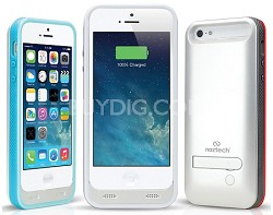 Apple Certified 2400mAh Power Case with Kickstand for Apple iPhone 5/5s - White