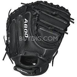 A600 Baseball Catcher Mitt, Right Hand Throw, 32.5-Inch, Black
