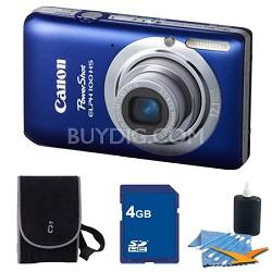 PowerShot ELPH 100 HS Blue Digital Camera 4GB Bundle