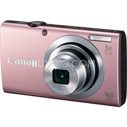 PowerShot A2400 IS 16MP Pink Digital Camera 5x Optical Zoom 720p HD Video