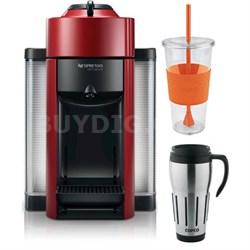 Vertuoline Evolu GCC1 Espresso Maker/Coffee Maker Cherry Red + Travel/Cup Bundle