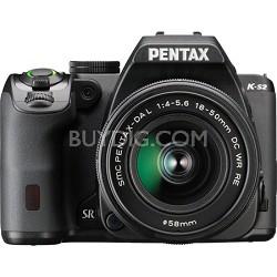 K-S2 20MP DSLR Kit w/ 18-50mm WR Lens - Black