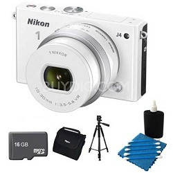 1 J4 Mirrorless Digital Camera with 10-30mm Lens White Kit