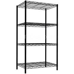 4 Tier Wire Shelving - Black