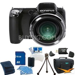 SP-810UZ iHS Digital Camera (Black) 16 GB Bundle
