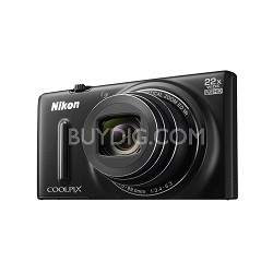 COOLPIX S9600 16MP HD 1080p 22x Opt Zoom Digital Camera - Black