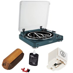Fully Automatic Wireless Belt-Drive Stereo Turntable - Navy w/ Cleaning Kit