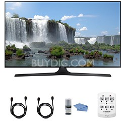 "UN50J6300 50"" Full HD 1080p 120hz Smart LED HDTV WIFI HDMI Cleaning Kit"