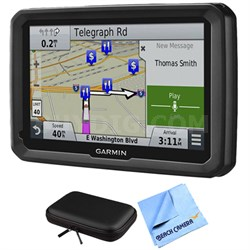 "dezl 770LMTHD 7"" GPS Navigation System with Map and Traffic Updates Case Bundle"