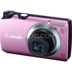 PowerShot A3300 IS 16MP Pink Digital Camera w/ 720p HD Video