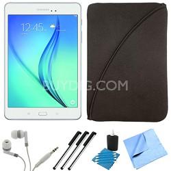 Galaxy Tab A SM-T550NZWAXAR 9.7-Inch Tablet (16 GB, White) Bundle