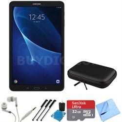 Galaxy Tab A 16GB 10.1-inch Tablet w/ 32GB Card, Case & More Bundle - Black