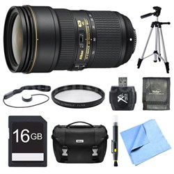 24-70mm f/2.8E ED VR AF-S NIKKOR Zoom Lens 16GB Bundle