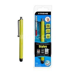 Basic Touch Screen Stylus w/ Micro Fiber Cloth Yellow