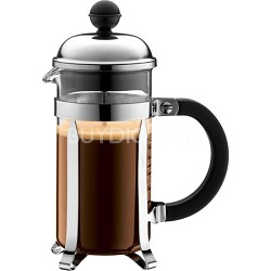 Chambord French Press Coffee Maker, 12 oz. Glass Carafe - Chrome