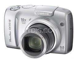 Powershot SX110 IS 9MP Digital Camera (Silver)
