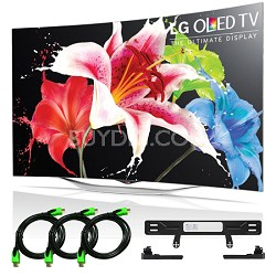 55EC9300 - 55-Inch 1080p Smart 3D Curved OLED TV + LG Mount Accessory Bundle