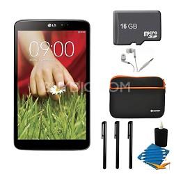 "G Pad V 500 16GB 8.3"" WiFi Black Tablet, 16GB Card, and Case Bundle"
