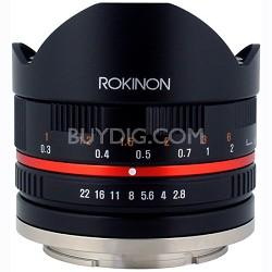 8mm F2.8 Fisheye Lens for Sony E-Mount (Black) (28FE8BK-SE)