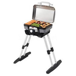 Outdoor Electric Grill with Adjustable VersaStand