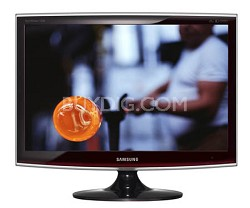 """T220 Black/Red 22"""" Widescreen LCD Monitor"""