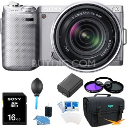 NEX5NK/S - NEX-5N with 18-55mm Lens (Silver) Ultimate Bundle