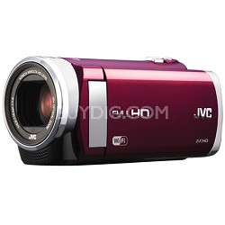 "GZ-EX210RUS - HD Everio Camcorder f1.8 40x Zoom 3.0"" Touchscreen WiFi (Red)"