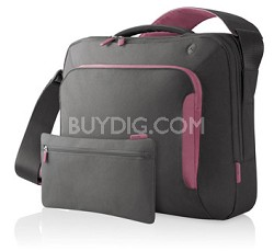 F8N077-SGF-DL 17Inch Energy Collection Messenger Bag (Gray/Flamingo Pink)