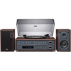 LP-P1000 Turntable Stereo System with CD/Radio/Bluetooth - Cherry Finish
