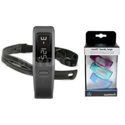 Vivofit Fitness Band Bundle with Heart Rate Monitor (Slate)(010-01225-35)
