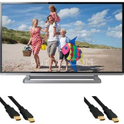 40-Inch 1080p 120Hz Slim LED HDTV with 2 HDMI Cables