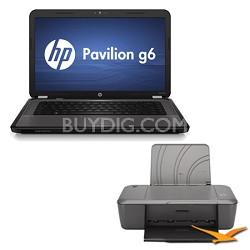 "G6-1d80nr 15.6"" Notebook PC - AMD Dual-Core A4-3305M Processor - Printer Bundle"