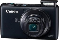 Powershot S95 10MP Compact Digital Camera w/ 720p HD Video