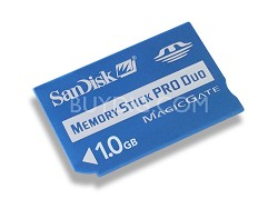 1 GB Memory Stick Pro Duo, Standard MS Adaptor Included