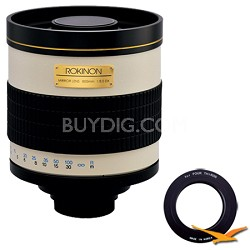 800mm F8.0 Mirror Lens for Olympus Micro 4/3 (White Body) - 800M