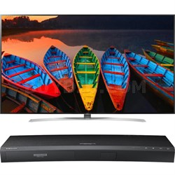 86-Inch Super UHD Smart TV - 86UH9500 + Samsung UBDK8500 4K UHD Blu-Ray Player
