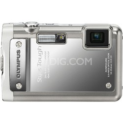 Stylus Tough 8010 Waterproof Shockproof Freezeproof Digital Camera (Silver)