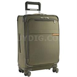 """U122SP-7  Baseline 22"""" Domestic Carry-On Spinner - Olive"""
