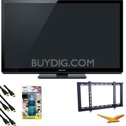 Panasonic VIERA TC-P50GT30 50-Inch 1080p 3D Plasma HDTV Bundle