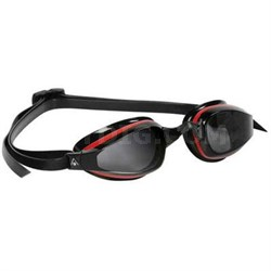 K180 Swim Goggles with Smoke Lens and Red/Black Frame - 173040