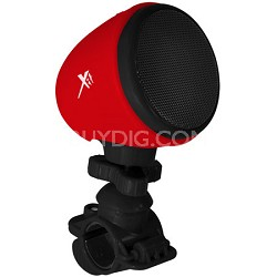 Bicycle/Stroller Bluetooth Speaker with Built-in Microphone Red/Black