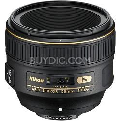 AF-S NIKKOR 58mm f/1.4G Lens